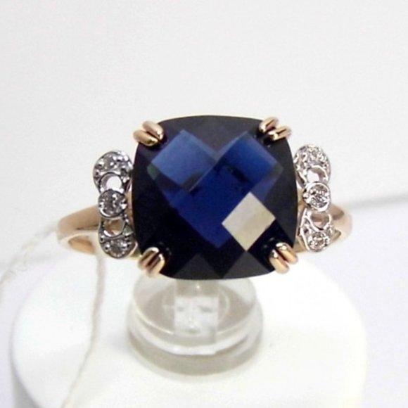 3.0 ct Sapphire & Diamond Rose Gold Ring